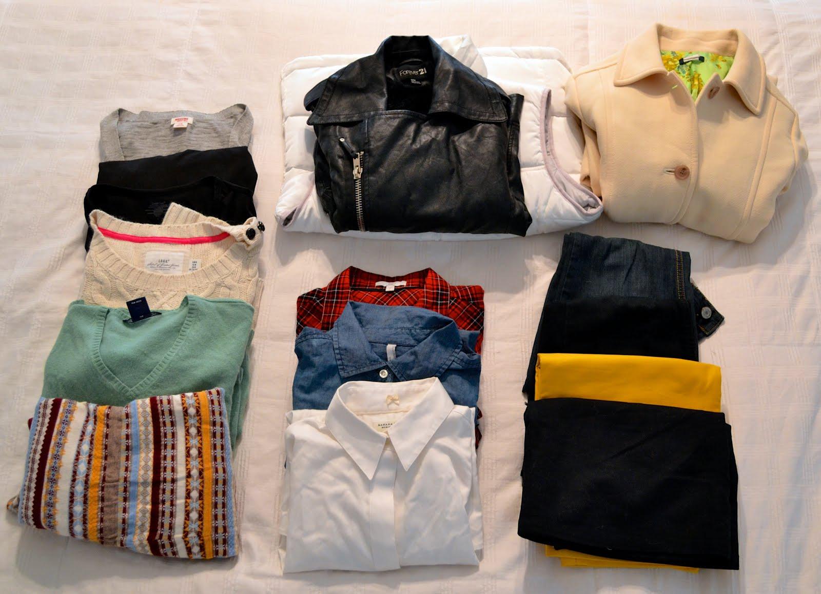 chuẩn bị quần áo khi đi công tác xa