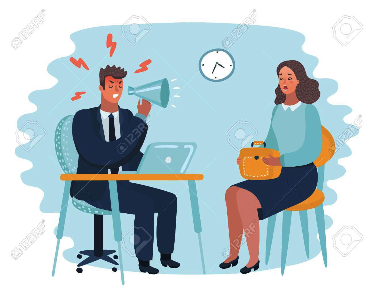 Mad Office Man Vector Illustration - 1 Office