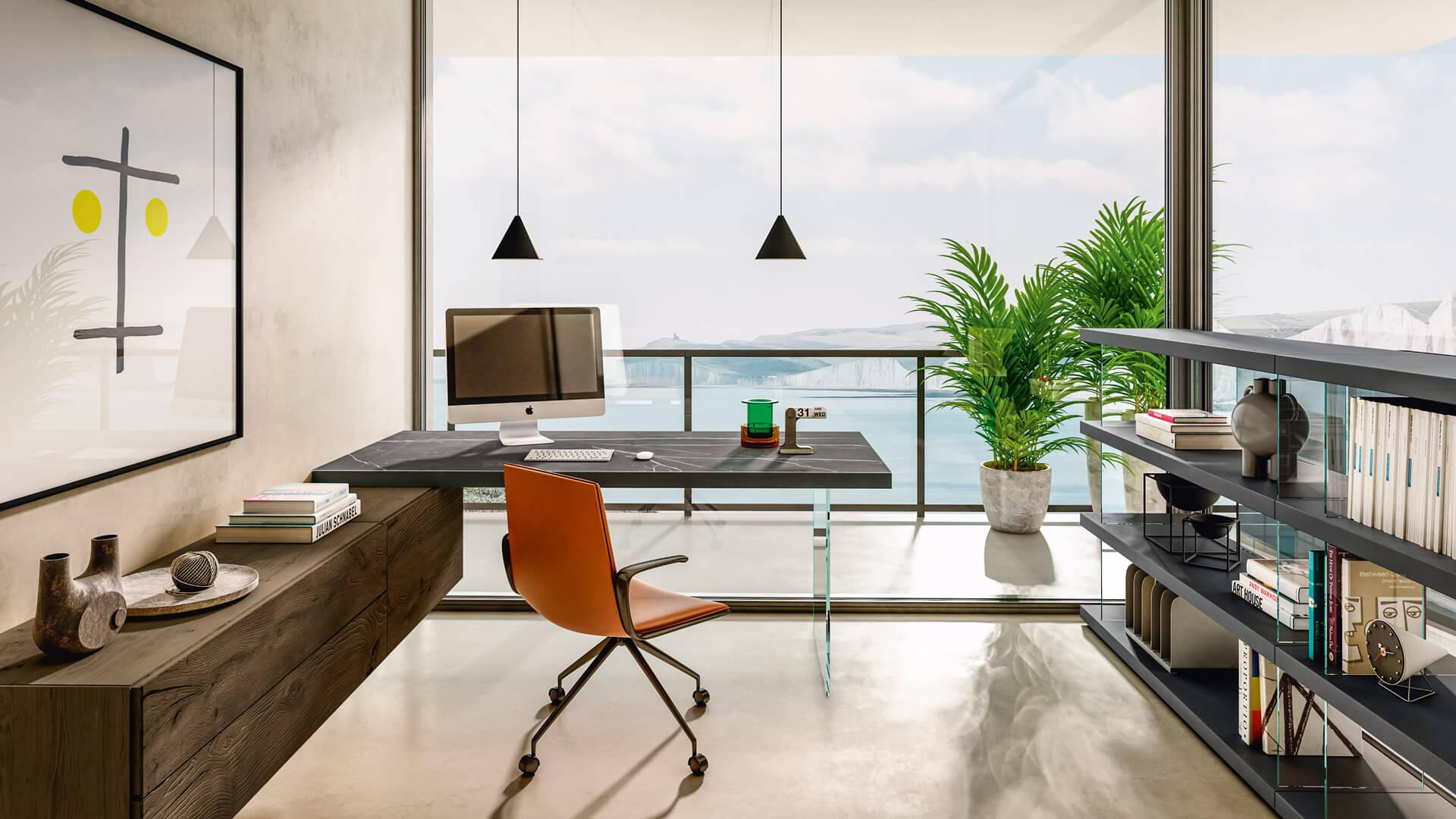 Ý tưởng văn phòng không gian hẹp cho bạn