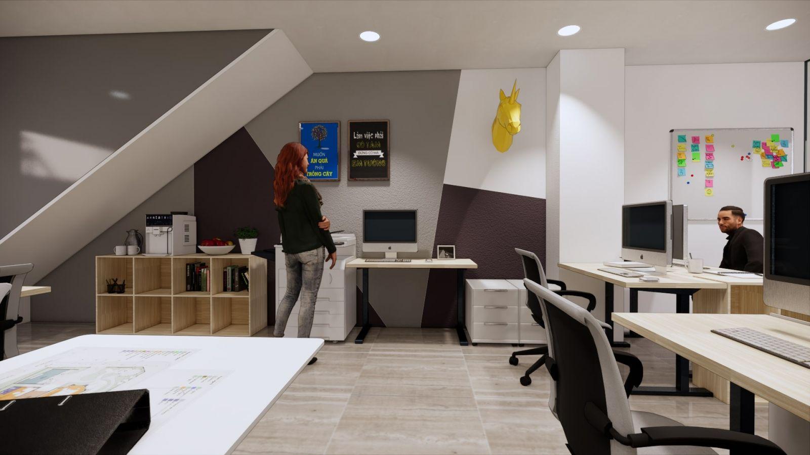 Không gian văn phòng nhỏ thân thiện và sang trọng !