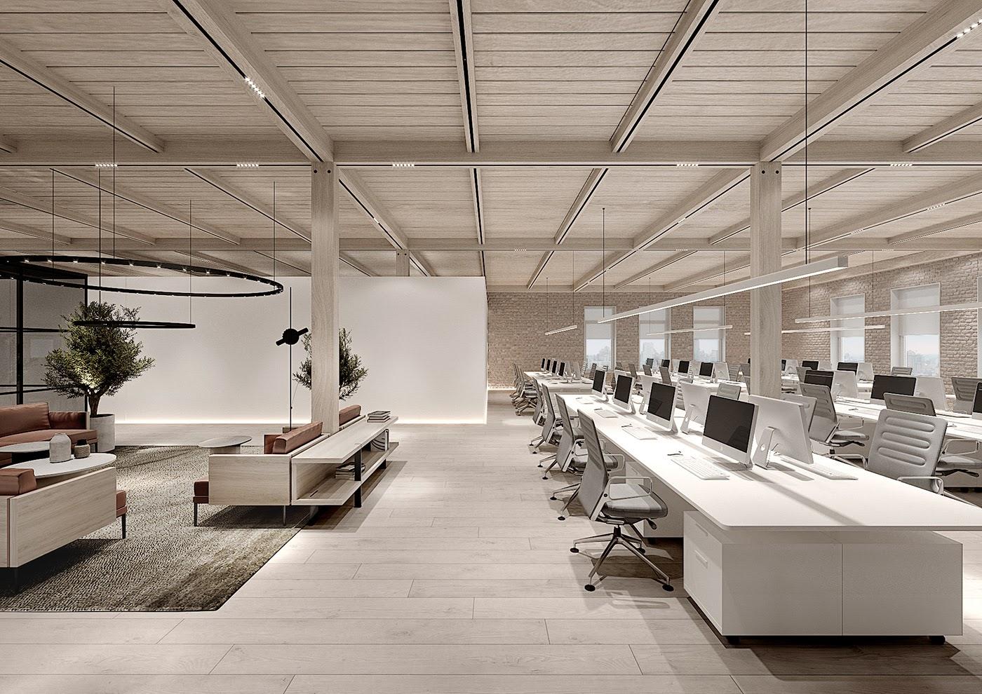 Thiết kế văn phòng kiểu mới cải thiện năng suất làm việc tăng cao | DTC