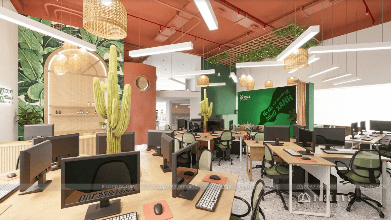 Thiết kế văn phòng đẹp tạo không gian chuyên nghiệp   Biscons JSC
